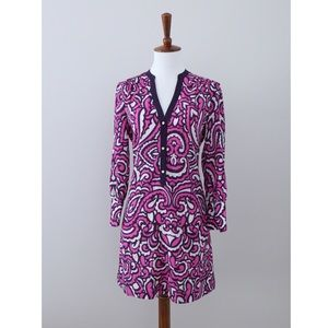 Juicy Couture Pink & Purple Baroque Shift Dress